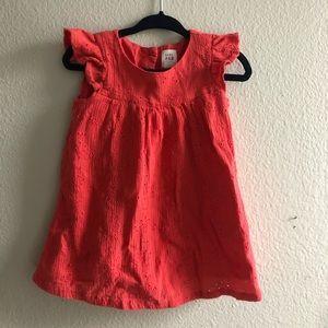 Gap baby girl coral eyelet dress